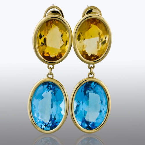 Richards and West Custom Designed Gemstone Earrings