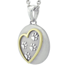 Paws In My Heart with Yellow Gold